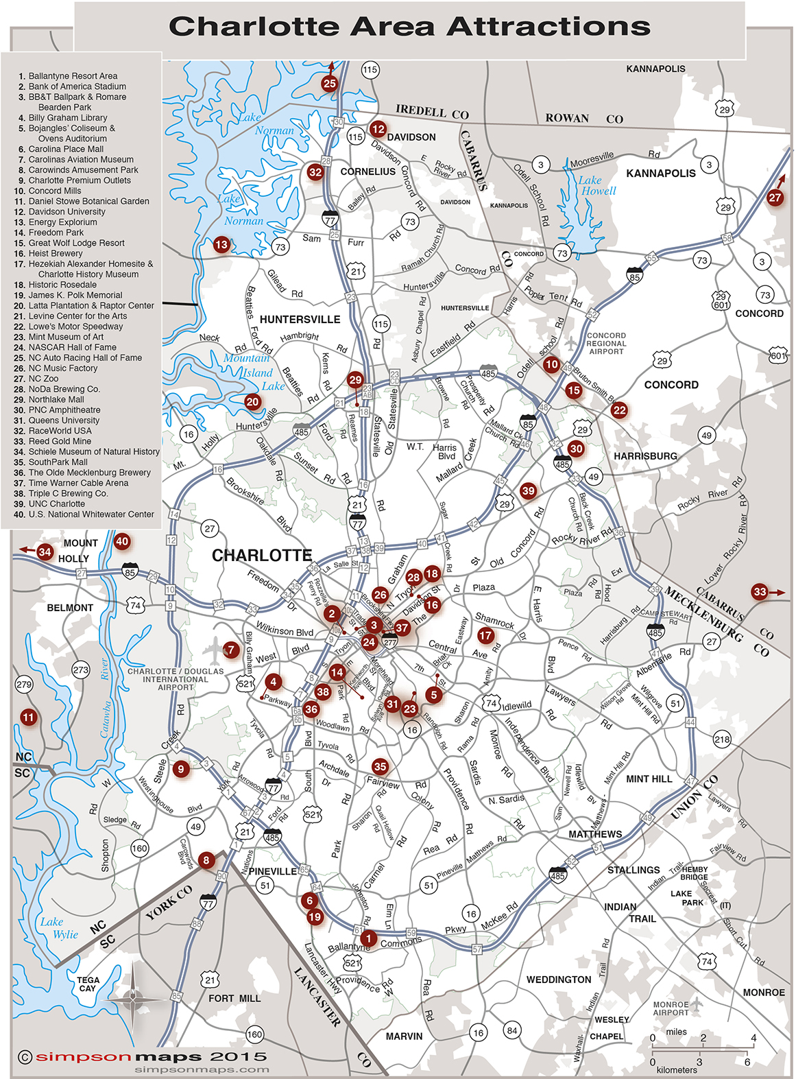 Charlotte Map With Zip Codes Zip Code Map