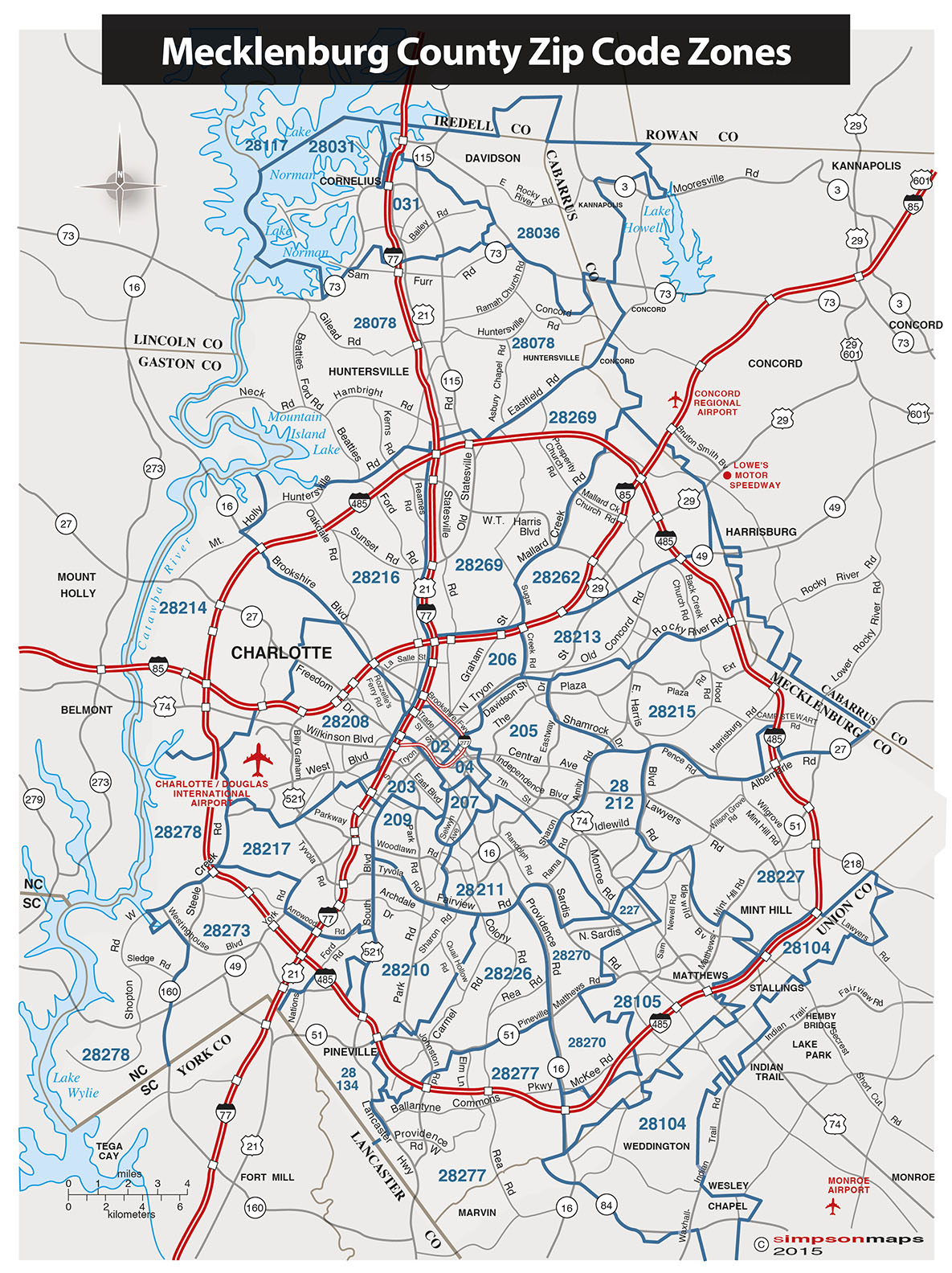 Charlotte Nc Zip Code Boundary Map, Click Here For A Zip Code Zones Map Jpg, Charlotte Nc Zip Code Boundary Map