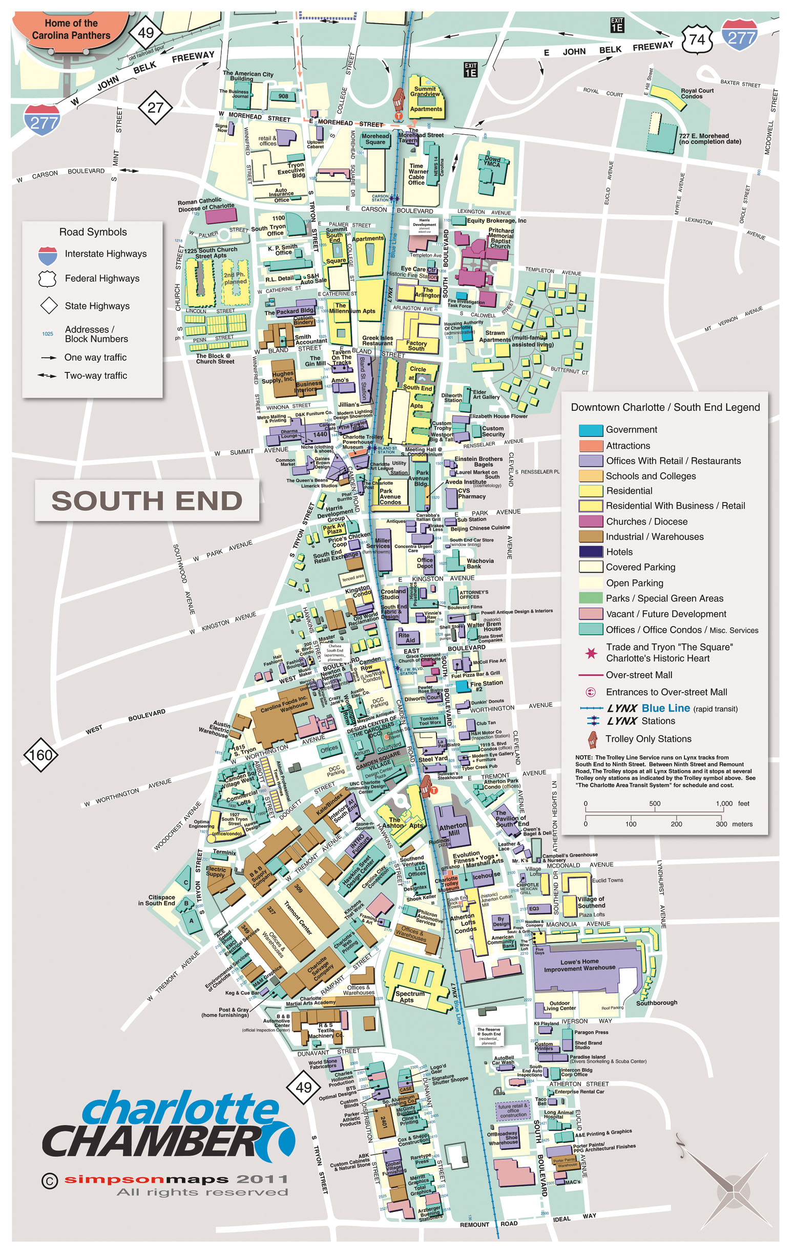 Maps - Charlotte Chamber Charlotte Area Map on